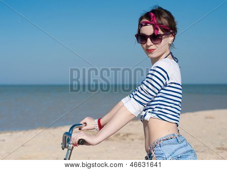 The Girl With Bicycle