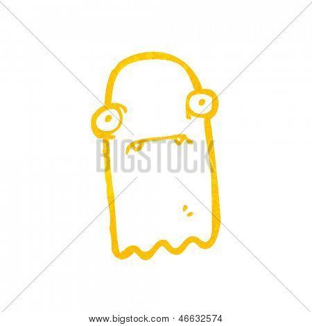 retro cartoon invisible ghost