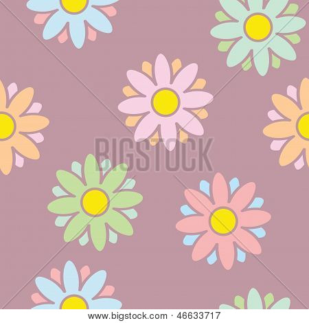 Sweet Flowers Seamless Background