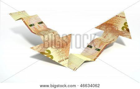 Rand Bank Note Recovery Trend Arrows