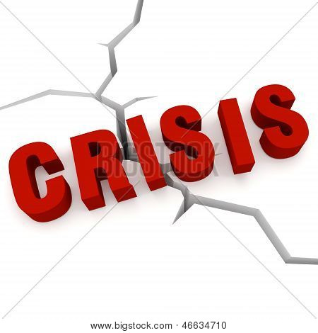 Word Crisis On The Background Crack