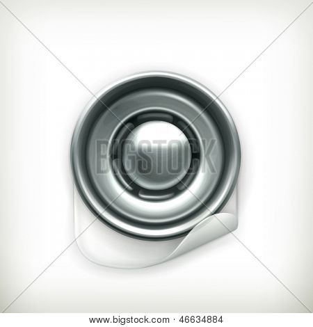 Snap fastener vector icon