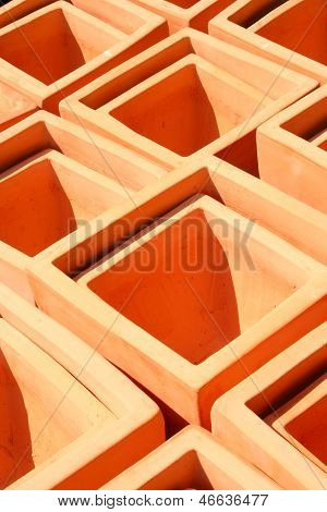 Square Terra Cotta Pots