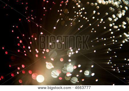 Lâmpada de núcleo branco vermelho