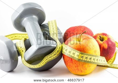Apple, Dumbbell And Tape