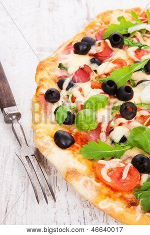 Delicious Pizza Background.