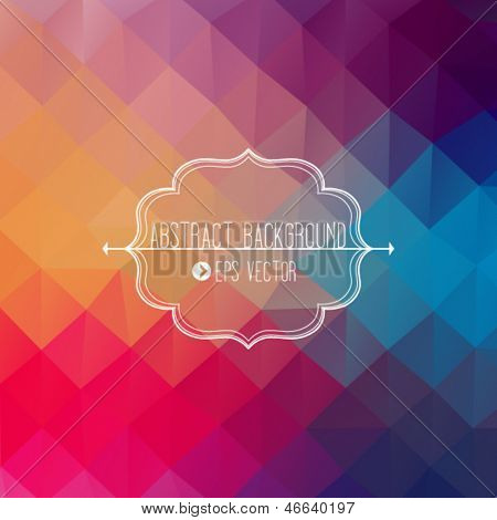 Abstract geometric template with triangles