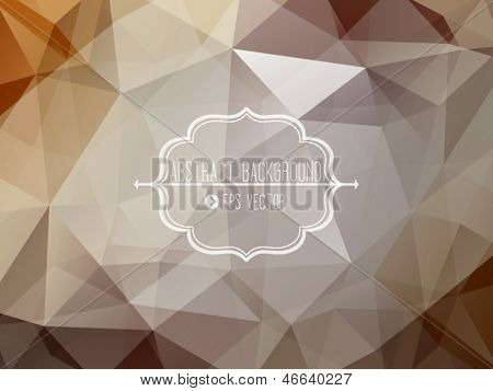Abstract geometric background with triangles and frame
