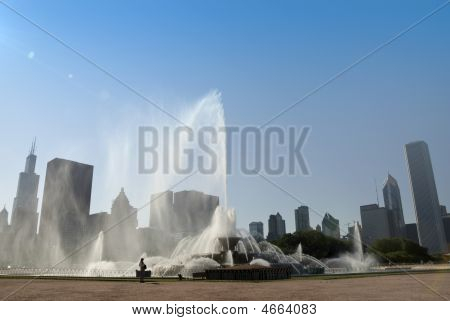 Chicago Buckingham Fountain Skyline