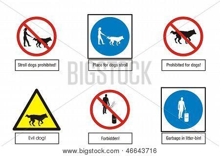 Art-Illustration of  road signs