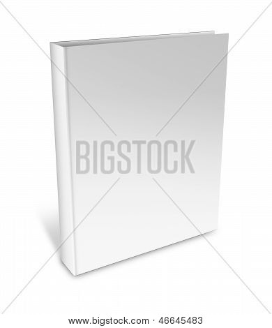 Collection Of Various Blank White Book On White Background