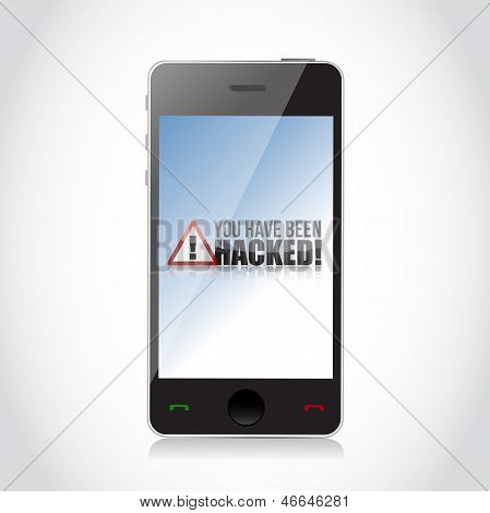Phone - You Have Been Hacked Sign