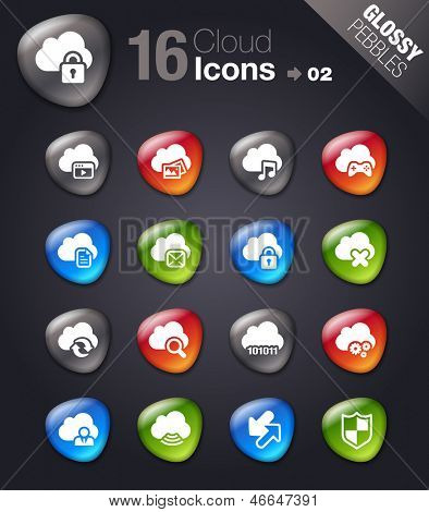Glossy Pebbles - Cloud Computing Icons