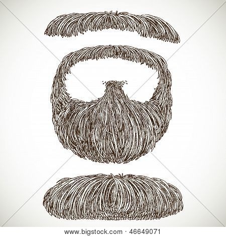 Lush Retro Mustache And Beard