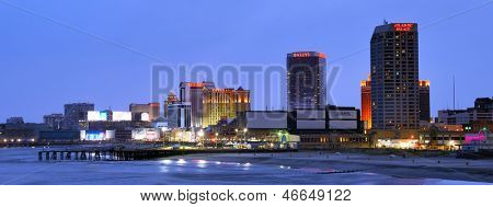ATLANTIC CITY - SEPTEMBER 9: Skyline of Atlantic City September 9, 2012 in Atlanic City, NJ. The city received damage during Hurricane Sandy but is since on the rebound.