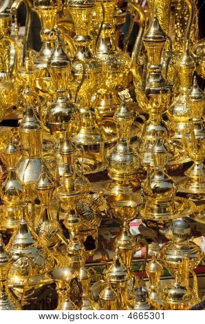 Arabic Coffe-pots At Bazaar