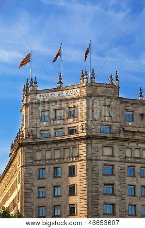 Barcelona. Building of bank of Spain