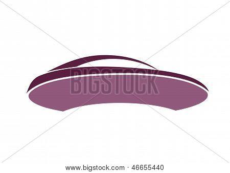 Pink auto logo over white board