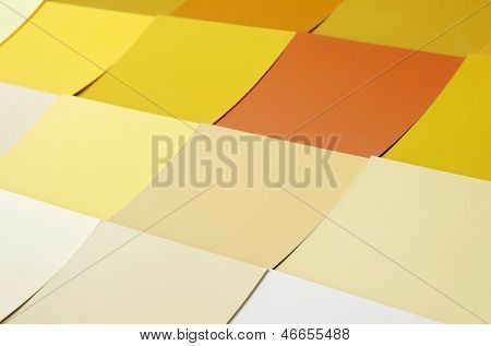Background with many colorful square paper stickers