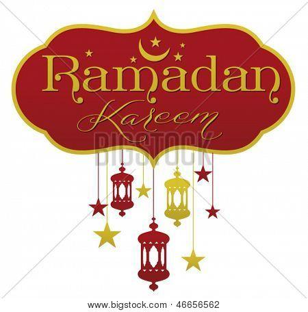 Ramadan greetings in english script.