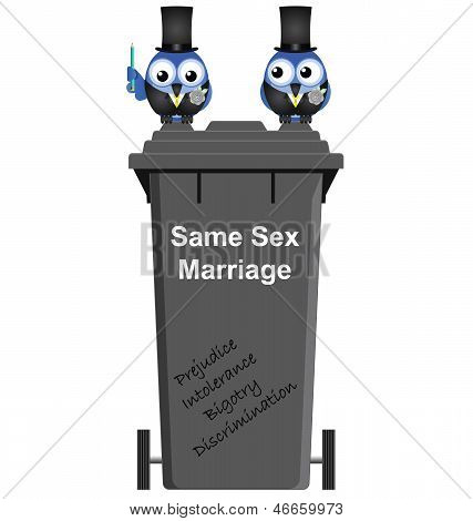 Same sex marriage bin