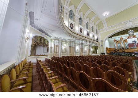 MOSCOW - OCT 4: Hall of the Moscow Tchaikovsky Conservatory on October 4, 2012 in Moscow, Russia.