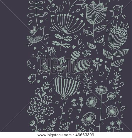 Seamless floral background in vintage style. Seamless pattern can be used for wallpapers, pattern fills, web page backgrounds,surface textures. Gorgeous seamless floral background