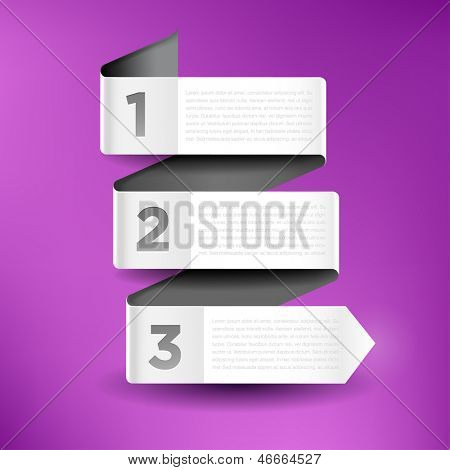 Vector illustration with three banners for infographics