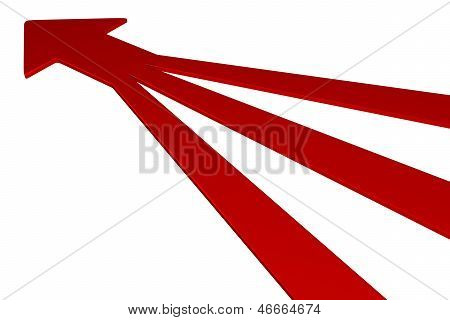 3D Arrows - Red