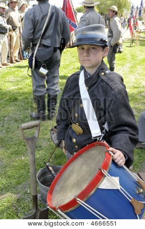 Young Confederate Drummer