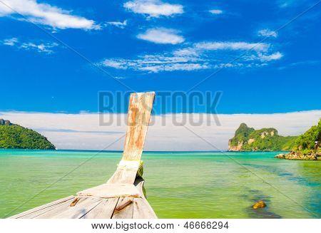 Lagoon Landscape Thai Vessel