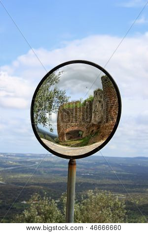 Round View Mirror In Evoramonte