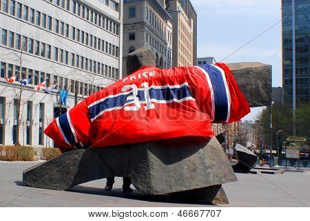 Carey Price giant shirt