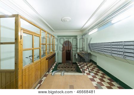 Entrance apartment house with a pantry
