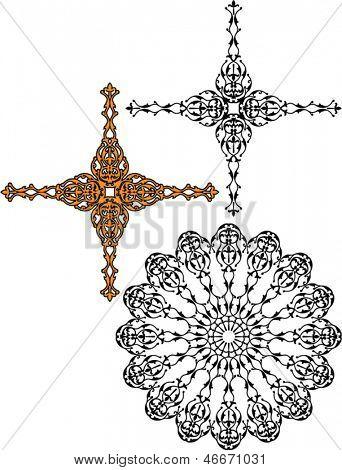 Cross, Circular Tribal Tattoo