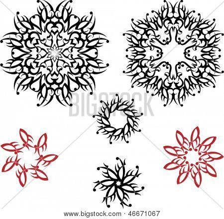 Sun Circular tattoo set