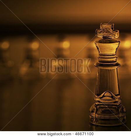 King Chess Piece - Business Leadership Concept
