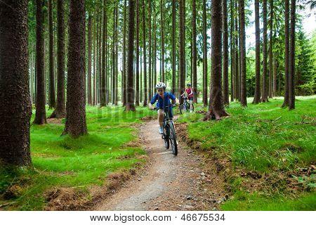 Women riding bikes