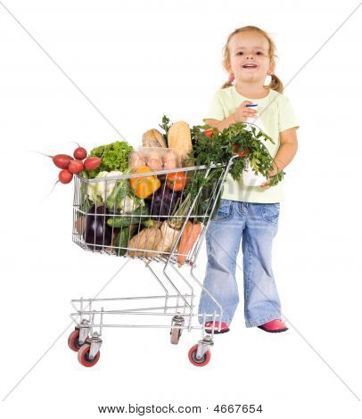 Little Girl With Groceries