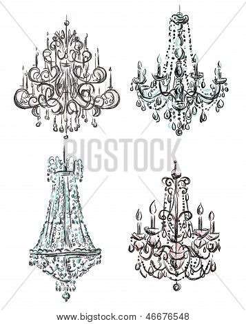 Chandelier drawing