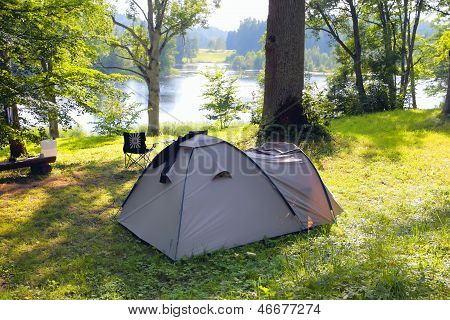 Camping At Lakeside