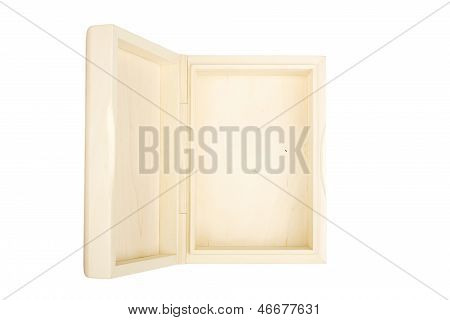 Empty Open Wooden Box