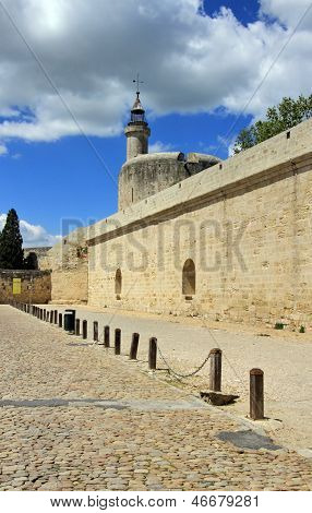 Fortification Wall And Tower Of Constance At Aigues-mortes, Camargue, France
