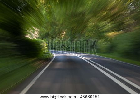 Country Lane at speed