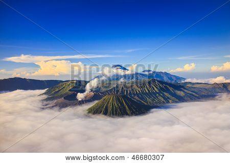 Bromo volcano at sunriseTengger Semeru national park East Java Indonesia