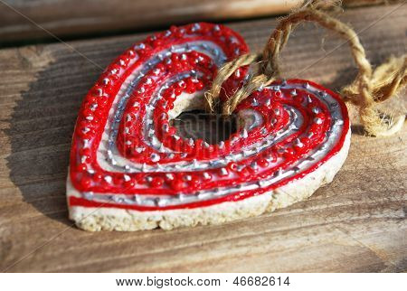 needlework red heart