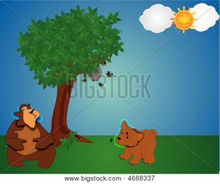 Bears In A Park