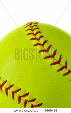 Yellow Softball Close-up