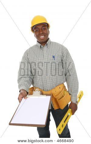 Handsome Construction Man