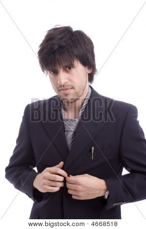 Young Business Man Dressing